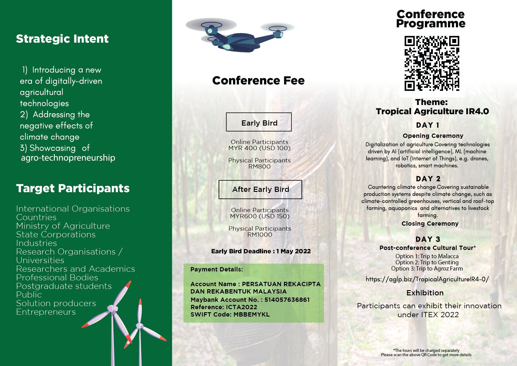 ICTA2022 International Conference on Tropical Agriculture I.R.4.0